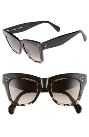 CELINE 50mm Gradient Butterfly Sunglasses | Nordstrom