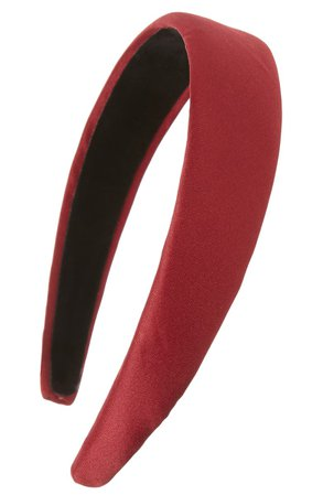 Tasha Wide Satin Headband | Nordstrom