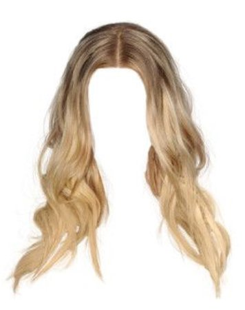 middle part wavy blonde hair