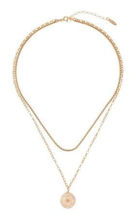 Double-Chain Odin Coin Necklace By Maison Irem   Moda Operandi