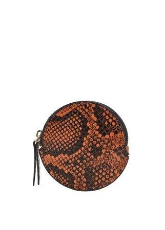 MANGO Snake-effect purse