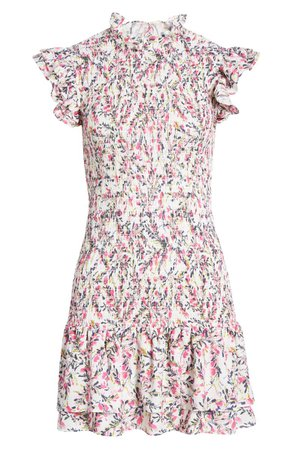 French Connection Verona Floral Smock Ruffle Dress | Nordstrom
