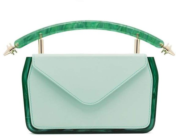 Okhtein leather plexbox mini bag