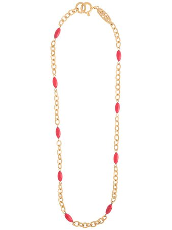 Chanel Pre-Owned Beaded chain-link Necklace - Farfetch