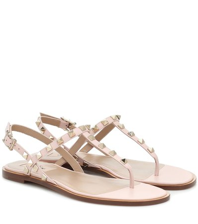 Valentino Garavani Rockstud Leather Sandals - Valentino | Mytheresa