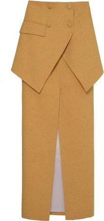 Aleksandre Akhalkatsishvili Double Layer Cotton Skirt