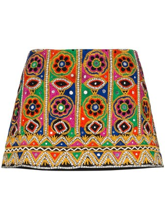 Ashish mirror-embroidered Mini Skirt - Farfetch