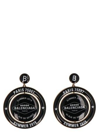 Balenciaga casino Earp Round Earrings