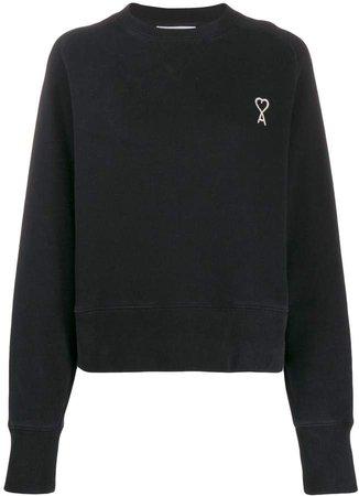 Paris embroidered logo sweatshirt