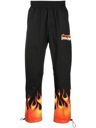 Palm Angels Flame Print Track Pants