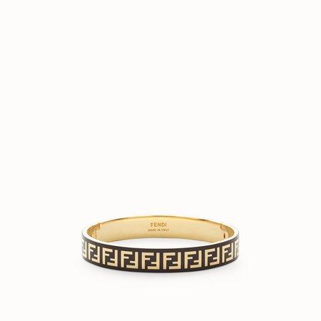 Gold and black coloured bracelet - FF BRACELET | Fendi