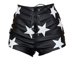 black and white star shorts png