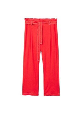Violeta BY MANGO Contrast seam trousers