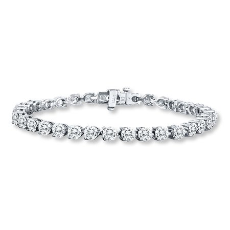 Diamond Bracelet 9 ct tw Round-cut 14K White Gold | Diamond Tennis Bracelets | Bracelets | Jewelry | Jared