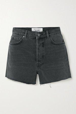 Dixie Frayed Denim Shorts - Black