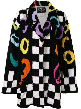 Chanel Pre-Owned 1995 Checked Bathrobe Coat - Farfetch