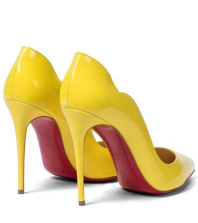 Christian Louboutin - Hot Chick 100 patent leather pumps | Mytheresa