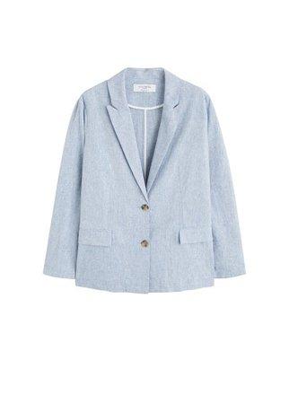 Violeta BY MANGO Structured linen jacket
