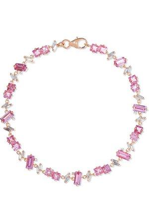 Suzanne Kalan   18-karat rose gold, sapphire and diamond bracelet   NET-A-PORTER.COM