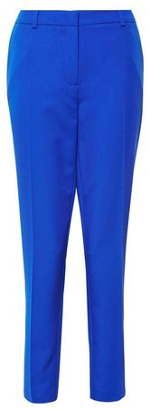 **Tall Cobalt Ankle Grazer Trousers