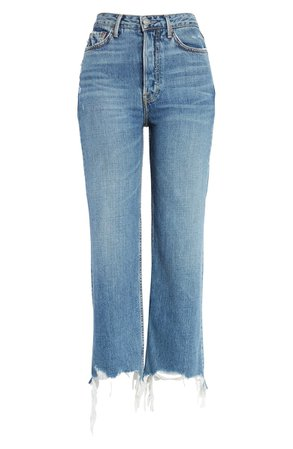 GRLFRND Bobbi High Waist Crop Straight Leg Jeans (What You Like) | Nordstrom