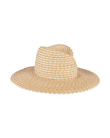 Jeanne Two Tone Straw Fedora