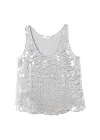 MANGO Sequin embroidery top