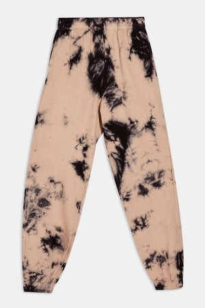 Black and Pink Tie Dye Joggers | Topshop