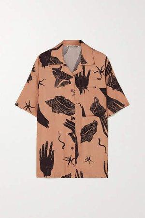 Simonne Printed Twill Shirt - Brown