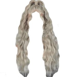 Gray White Platinum Hair PNG