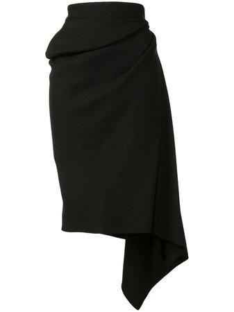 Maticevski, High-Rise Draped Skirt