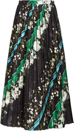 Nolana Pleated Jersey Midi Skirt