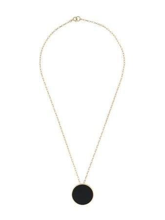 Isabel Marant Gemstone Circle Necklace CO032220P034B Black | Farfetch