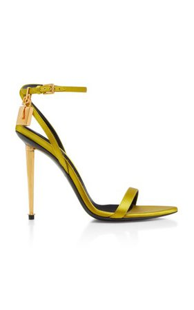 Satin Lock And Key Pointy Naked Sandals By Tom Ford | Moda Operandi