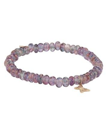 Moonstone Butterfly Charm Bracelet