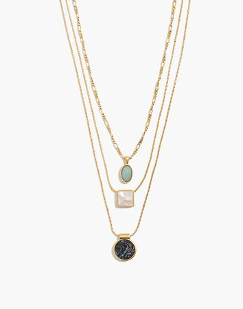 Geo-Stone Necklace Set