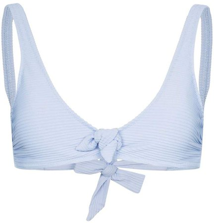 Sardinia tie-front bikini top