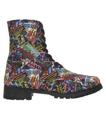 Marvel Comic Combat Boots