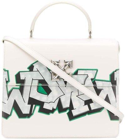 Jitney graffiti tote bag