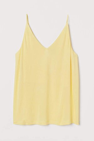 V-neck Camisole Top - Yellow