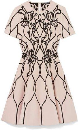 Jacquard-knit Mini Dress - Ivory