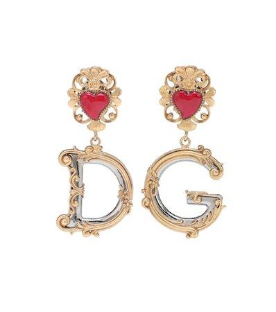 Clip-on drop earrings