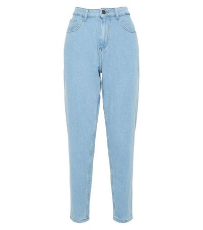 Noisy May Bright Blue Mom Jeans   New Look