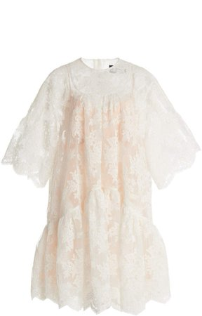 Simone Rocha Lace Detailed Tiered Dress
