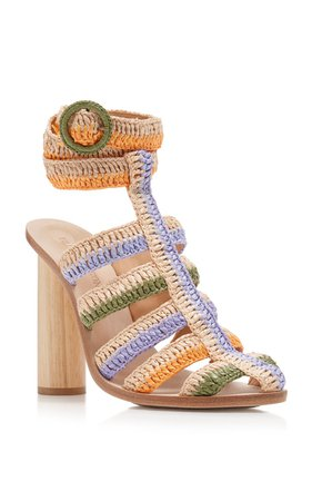 Katya Caged Raffia Sandals by Ulla Johnson | Moda Operandi