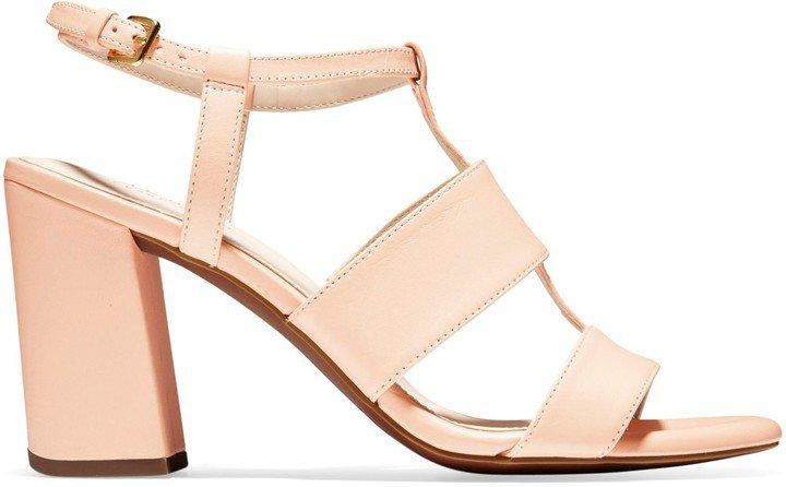 Cherie T-Strap Stack Heel Sandals