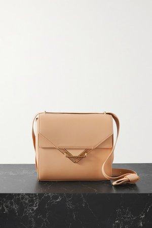 The Clip Small Leather Shoulder Bag - Beige