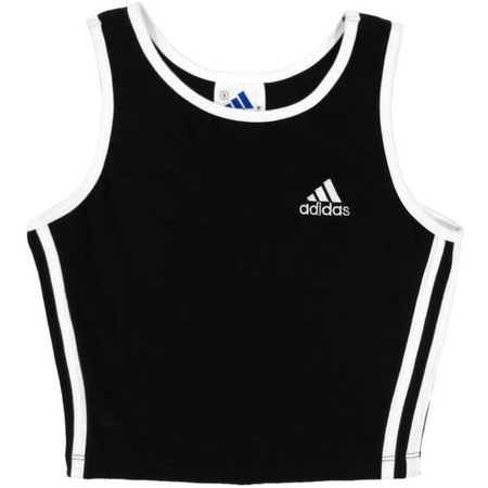 Adidas Crop Top Athletic Sporty Minimal 90s Grunge Cropped Tank