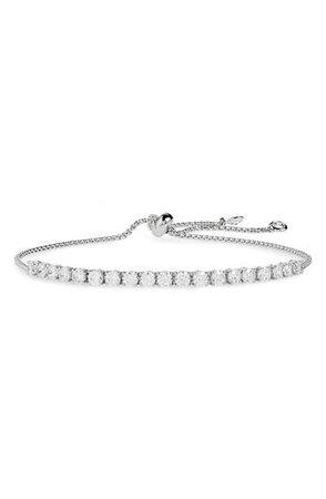Nordstrom Cubic Zirconia Tennis Slider Bracelet | Nordstrom