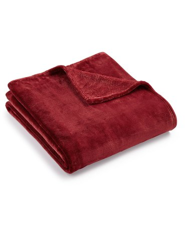 "Charter Club Cozy Plush 50"" x 70"" Throw, Created for Macy's - Blankets & Throws - Bed & Bath - Macy's"